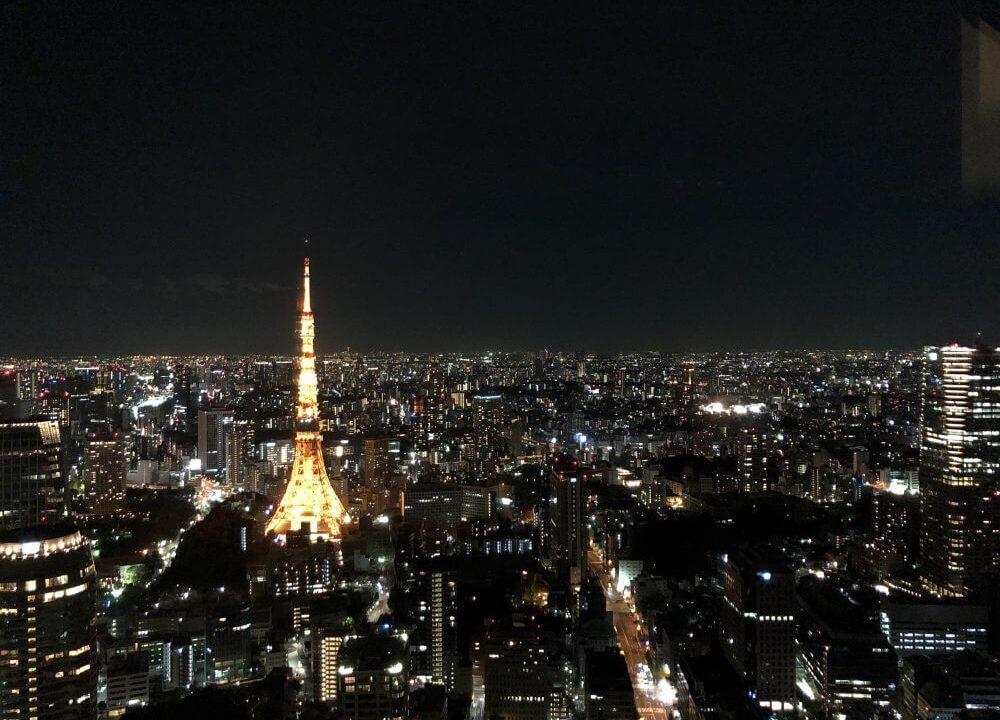 アンダーズ東京からの東京タワー